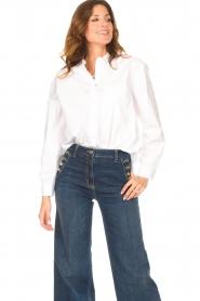 Kocca    Cotton blouse Fiorella   white     Picture 2