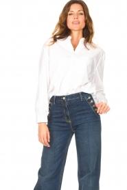 Kocca    Cotton blouse Fiorella   white     Picture 4