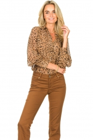 Kocca    Blouse with panther print Vinca   brown    Picture 2