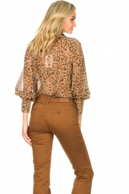 Kocca    Blouse with panther print Vinca   brown    Picture 7