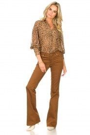 Kocca    Blouse with panther print Vinca   brown    Picture 3