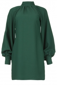 Kocca |  Dress with pussy bow Lapis | green  | Picture 1