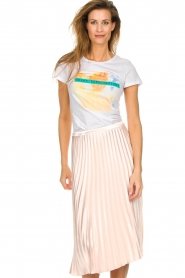Silvian Heach |  Shiny skirt Guaroyos | pink  | Picture 4