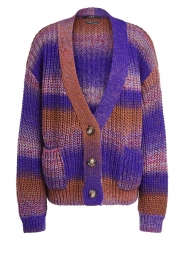 Set |  Chunky knit cardigan Lucy | purple  | Picture 1