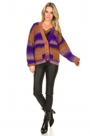 Set |  Chunky knit cardigan Lucy | purple  | Picture 3