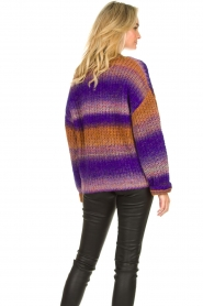 Set |  Chunky knit cardigan Lucy | purple  | Picture 7