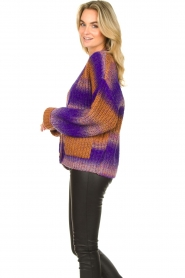 Set |  Chunky knit cardigan Lucy | purple  | Picture 6