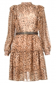 Kocca |  Dress with panther print Ranuncolo | brown  | Picture 1