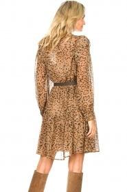 Kocca |  Dress with panther print Ranuncolo | brown  | Picture 6