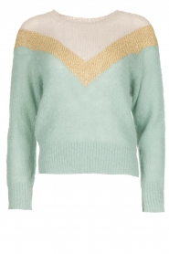 Leon & Harper |  Knitted sweater Musav | mint green  | Picture 1