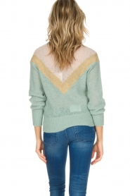 Leon & Harper |  Knitted sweater Musav | mint green  | Picture 5