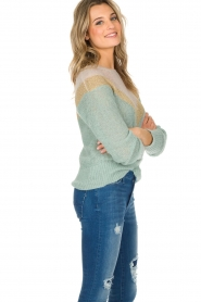 Leon & Harper |  Knitted sweater Musav | mint green  | Picture 4
