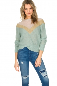 Leon & Harper |  Knitted sweater Musav | mint green  | Picture 2