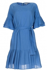 Silvian Heach |  Dress with ruffles AKHIOK | blue  | Picture 1