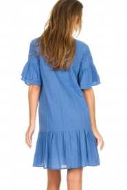 Silvian Heach |  Dress with ruffles AKHIOK | blue  | Picture 6