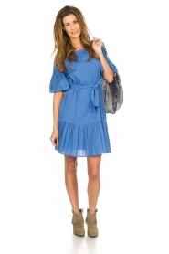 Silvian Heach |  Dress with ruffles AKHIOK | blue  | Picture 7