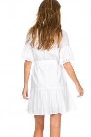 Silvian Heach |  Dress with ruffles Akhiok | white  | Picture 5