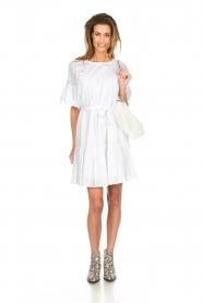 Silvian Heach |  Dress with ruffles Akhiok | white  | Picture 3