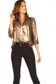 Set |  Metallic blouse Disco | metallic  | Picture 4