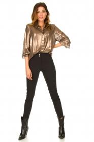 Set |  Metallic blouse Disco | metallic  | Picture 3