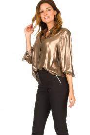 Set |  Metallic blouse Disco | metallic  | Picture 5