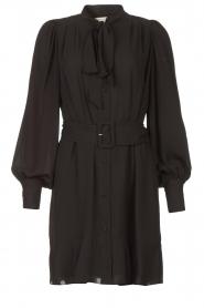 Kocca |  Dress with matching belt Belinda | black  | Picture 1