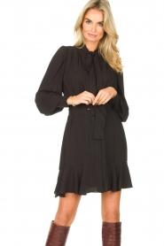 Kocca |  Dress with matching belt Belinda | black  | Picture 4
