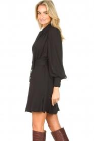 Kocca |  Dress with matching belt Belinda | black  | Picture 6