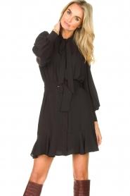 Kocca |  Dress with matching belt Belinda | black  | Picture 5
