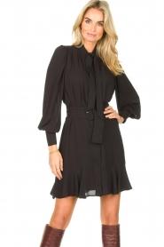 Kocca |  Dress with matching belt Belinda | black  | Picture 2