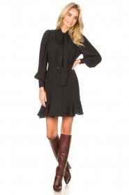 Kocca |  Dress with matching belt Belinda | black  | Picture 3