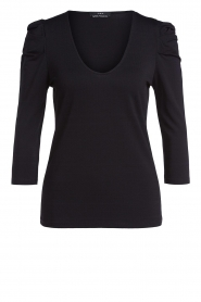 Set |  Top with puff sleeves Angel | black  | Picture 1