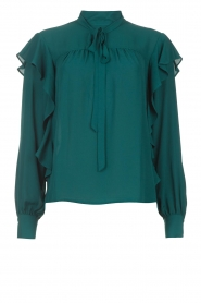 Kocca    Top with ruffles Elissa   green    Picture 1