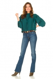 Kocca    Top with ruffles Elissa   green    Picture 3
