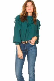 Kocca    Top with ruffles Elissa   green    Picture 4