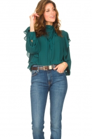 Kocca    Top with ruffles Elissa   green    Picture 5