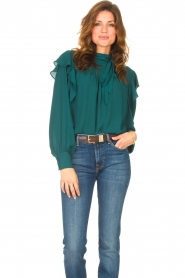 Kocca    Top with ruffles Elissa   green    Picture 6