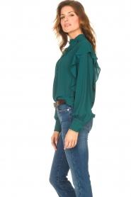 Kocca    Top with ruffles Elissa   green    Picture 7