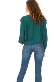 Kocca    Top with ruffles Elissa   green    Picture 8