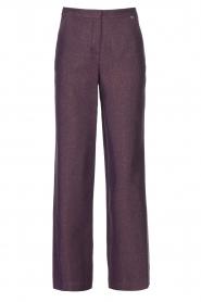 Kocca |  Flared trousers with print Rashmi | purple  | Picture 1