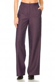 Kocca |  Flared trousers with print Rashmi | purple  | Picture 4