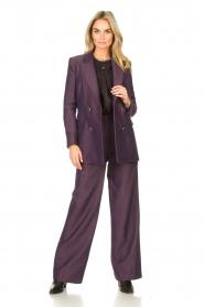 Kocca |  Flared trousers with print Rashmi | purple  | Picture 2