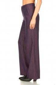 Kocca |  Flared trousers with print Rashmi | purple  | Picture 5