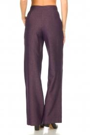 Kocca |  Flared trousers with print Rashmi | purple  | Picture 6