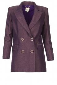 Kocca |  Blazer with print Kainda | purple  | Picture 1