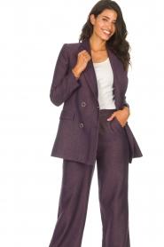 Kocca |  Blazer with print Kainda | purple  | Picture 5