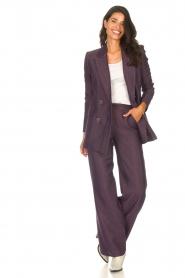 Kocca |  Blazer with print Kainda | purple  | Picture 4