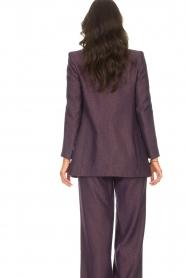Kocca |  Blazer with print Kainda | purple  | Picture 8