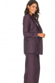 Kocca |  Blazer with print Kainda | purple  | Picture 7