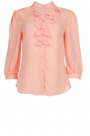 Blouse met ruches Pottino | peach